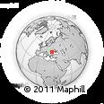 Outline Map of Strada Alexandru Ioan Cuza, rectangular outline