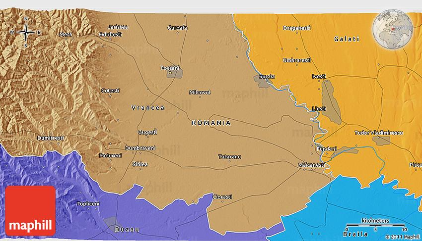 Political D Map Of Focşani - Focşani map