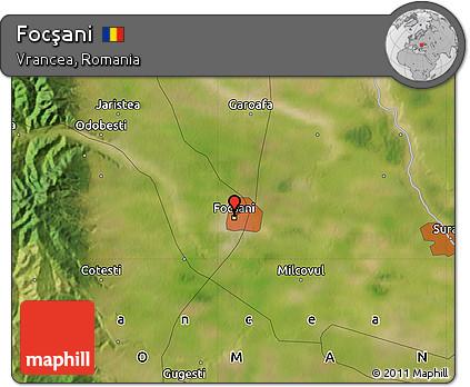 Free Satellite Map Of Focşani - Focşani map