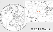 Blank Location Map of Clermont-Ferrand