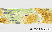 Physical Panoramic Map of Clermont-Ferrand