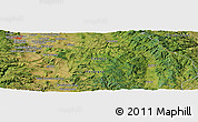 Satellite Panoramic Map of Clermont-Ferrand