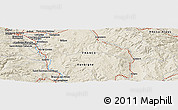 Shaded Relief Panoramic Map of Clermont-Ferrand