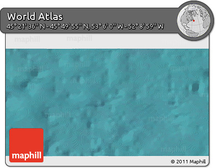 """Satellite 3D Map of the Area around 45°35'46""""N,52°37'30""""W"""