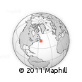 """Outline Map of the Area around 45° 35' 46"""" N, 53° 28' 30"""" W, rectangular outline"""