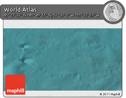 """Satellite 3D Map of the Area around 45°35'46""""N,56°1'29""""W"""