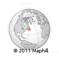 """Outline Map of the Area around 45° 35' 46"""" N, 56° 1' 29"""" W, rectangular outline"""