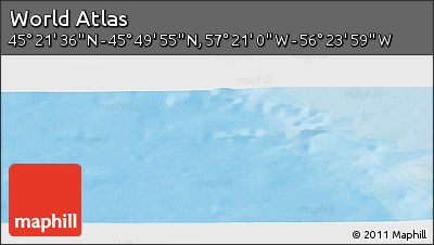 """Political Panoramic Map of the Area around 45°35'46""""N,56°52'30""""W"""