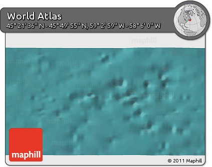"""Satellite 3D Map of the Area around 45°35'46""""N,58°34'30""""W"""