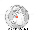"""Outline Map of the Area around 45° 35' 46"""" N, 58° 34' 30"""" W, rectangular outline"""