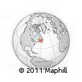 """Outline Map of the Area around 45° 35' 46"""" N, 59° 25' 29"""" W, rectangular outline"""