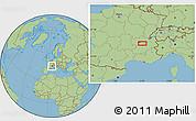 "Savanna Style Location Map of the area around 45°35'46""N,5°10'30""E"