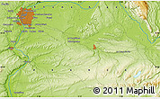"""Physical Map of the area around 45°35'46""""N,5°10'30""""E"""