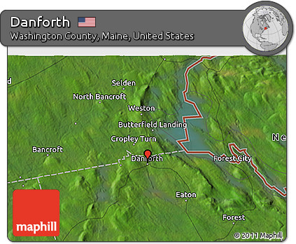 Danforth Maine Map.Free Satellite 3d Map Of Danforth