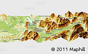 Physical Panoramic Map of Bassens
