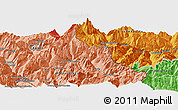 """Political Panoramic Map of the area around 45°35'46""""N,6°52'30""""E"""