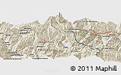 """Shaded Relief Panoramic Map of the area around 45°35'46""""N,6°52'30""""E"""
