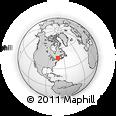 Outline Map of Sherbrooke, rectangular outline