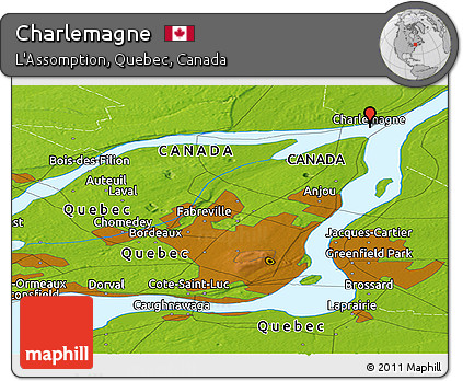 Charlemagne Canada Map Free Physical Panoramic Map of Charlemagne