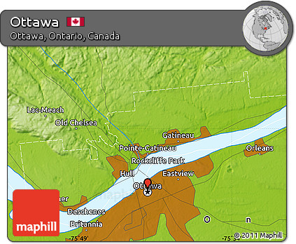 physical map of ottawa