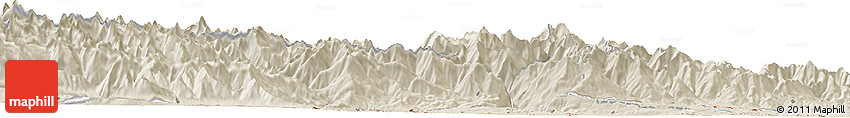 Shaded Relief Horizon Map of Aosta