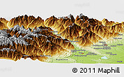 Physical Panoramic Map of Aosta