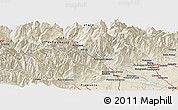 Shaded Relief Panoramic Map of Aosta