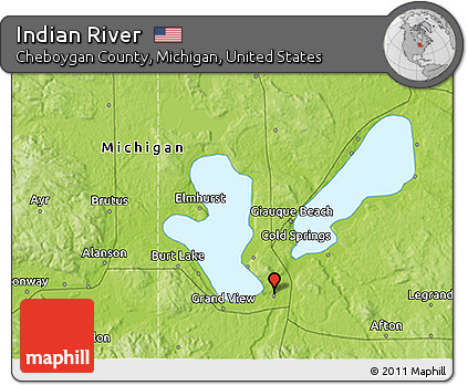 Free Physical 3d Map Of Indian River