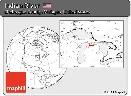 Free Blank Location Map Of Indian River