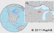Gray Location Map of Monico