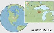 Savanna Style Location Map of Monico