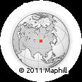 Outline Map of Shara Belchiriin Bayshing, rectangular outline