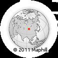 Outline Map of Tergetiin Bayshing, rectangular outline