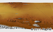 Physical 3D Map of Öldzeyte Bulagiin Hiid