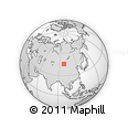 Outline Map of Öldzeyte Bulagiin Hiid, rectangular outline