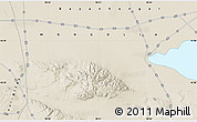 """Shaded Relief Map of the area around 45°35'46""""N,98°40'30""""E"""