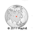 """Outline Map of the Area around 45° 35' 46"""" N, 98° 40' 30"""" E, rectangular outline"""