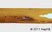 """Physical Panoramic Map of the area around 45°35'46""""N,98°40'30""""E"""