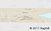 """Shaded Relief Panoramic Map of the area around 45°35'46""""N,98°40'30""""E"""