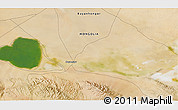 """Satellite 3D Map of the area around 45°35'46""""N,99°31'30""""E"""