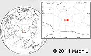 """Blank Location Map of the area around 45°35'46""""N,99°31'30""""E"""