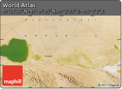 "Satellite Map of the Area around 45°35'46""N,99°31'30""E"