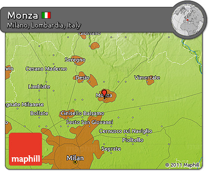 Free Physical Map Of Monza