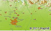Physical Map of Milan