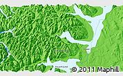 Political 3D Map of Te Anau