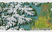 Satellite 3D Map of Te Anau