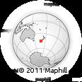 Outline Map of Te Anau, rectangular outline