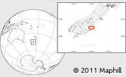 """Blank Location Map of the area around 45°18'49""""S,170°55'30""""E"""
