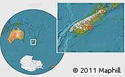 "Satellite Location Map of the area around 45°18'49""S,170°55'30""E"