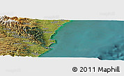 "Satellite Panoramic Map of the area around 45° 18' 49"" S, 170° 55' 30"" E"